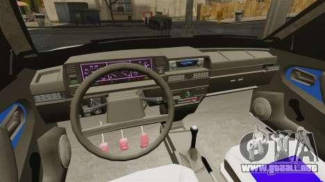 Vaz-21099 para GTA 4 vista hacia atrás