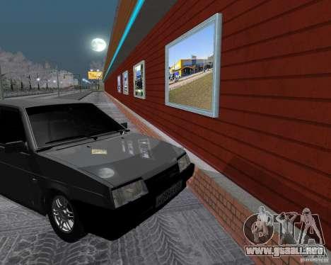 VAZ 2109 Sputnik para GTA San Andreas vista hacia atrás