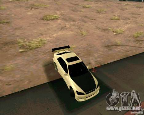 LEXUS IS300 Light tuned para GTA San Andreas vista posterior izquierda
