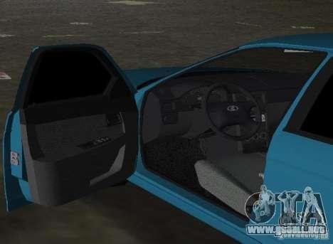 Lada Priora Hatchback para GTA Vice City vista posterior