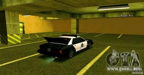 Sentinel Police LV para GTA San Andreas vista hacia atrás