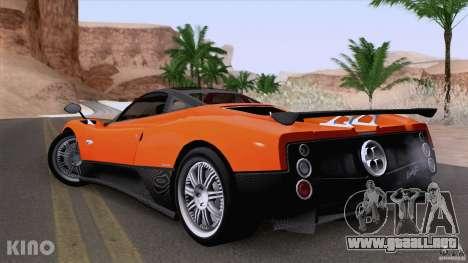 Pagani Zonda F para visión interna GTA San Andreas