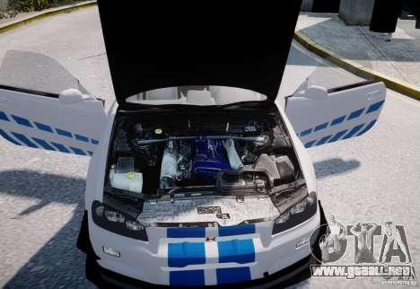 Nissan Skyline GT-R R34 2F2F para GTA 4 vista interior