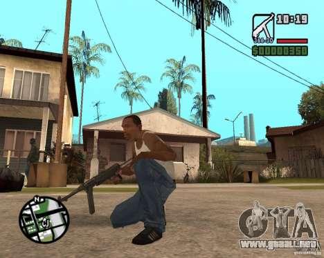 MP 40 para GTA San Andreas segunda pantalla