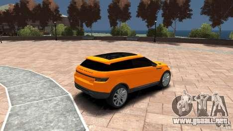 Range Rover LRX 2010 para GTA 4 visión correcta