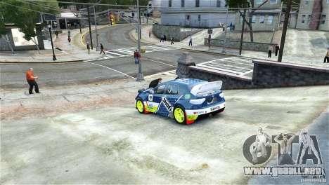 Subaru Impreza WRX STI Rallycross SHOEL Vinyl para GTA 4 left