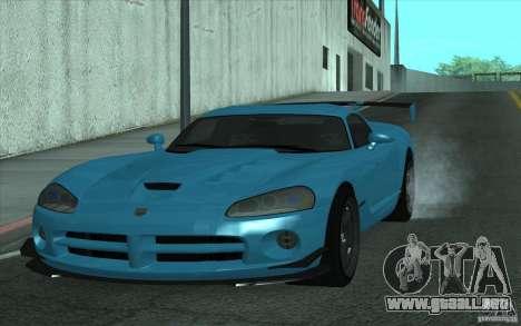 Dodge Viper SRT10 ACR para GTA San Andreas left