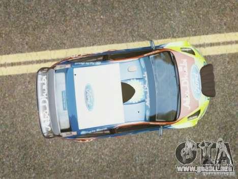 Ford Focus RS WRC para GTA 4 visión correcta