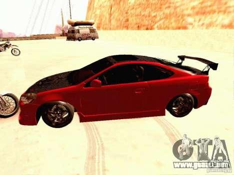 Acura RSX Drift para GTA San Andreas left
