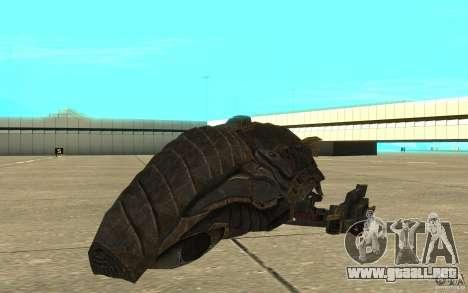 Nave Predator desde el juego Aliens vs Predator  para GTA San Andreas left
