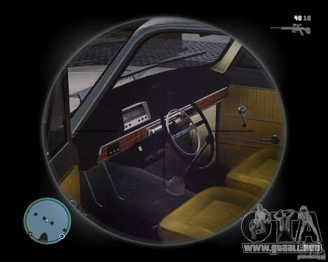 VAZ 2101 1972 Tun para GTA 4 visión correcta