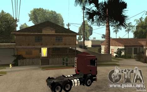 Scania 124 R480 6x4 Truck 1 para la visión correcta GTA San Andreas