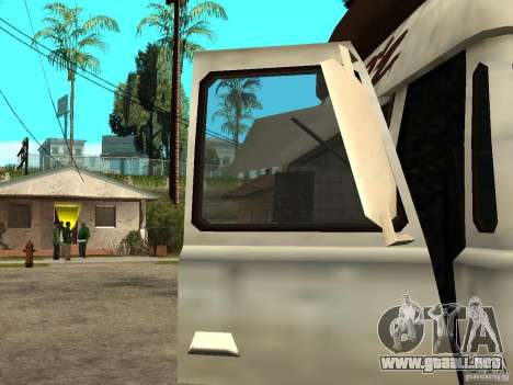 Limpiar el cristal en el Hot Dog-e para GTA San Andreas vista posterior izquierda