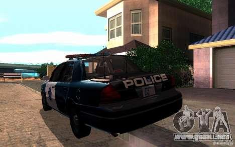 Ford Crown Victoria para visión interna GTA San Andreas