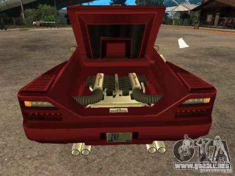 HD Cheetah para GTA San Andreas vista hacia atrás