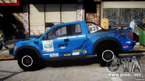 Ford F150 Racing Raptor XT 2011 para GTA 4 left