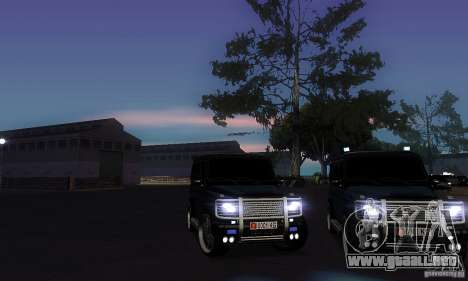 Mercedes Benz G500 ART FBI para vista lateral GTA San Andreas