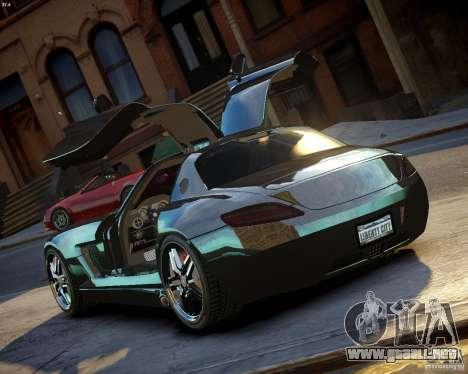 Mercedes SLS Extreme para GTA 4 Vista posterior izquierda