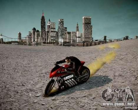 Drag Bike para GTA 4 vista hacia atrás
