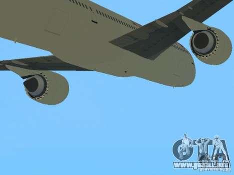 Boeing 787 Dreamliner Air Canada para GTA San Andreas vista hacia atrás