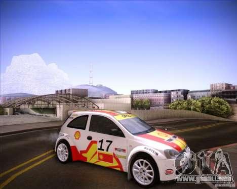 Opel Corsa Super 1600 para GTA San Andreas vista posterior izquierda
