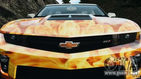 Chevrolet Camaro ZL1 2012 v1.0 Flames para GTA motor 4