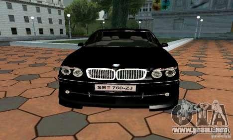 BMW 760LI para la visión correcta GTA San Andreas