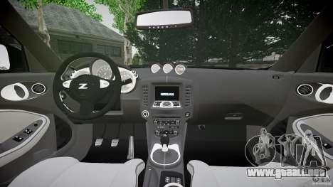 Nissan 370Z Coupe 2010 para GTA 4 vista hacia atrás