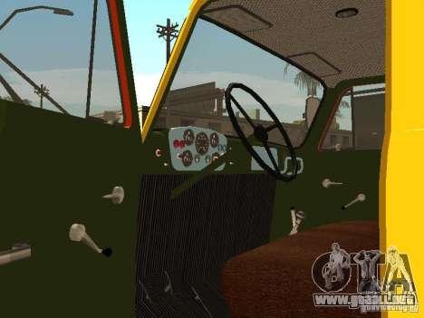GAZ 53 para visión interna GTA San Andreas
