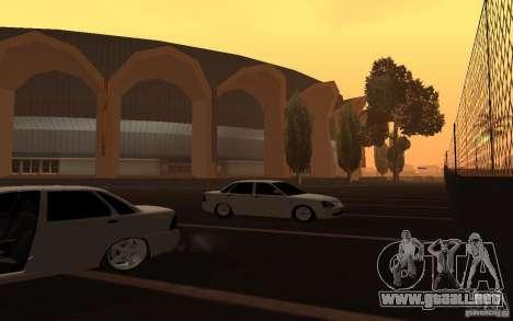 Lada Priora Light Tuning para GTA San Andreas vista hacia atrás