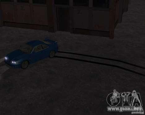 Nissan Skyline GT-R R-33 para GTA San Andreas vista hacia atrás