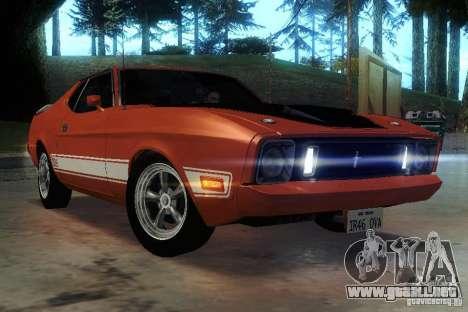 Ford Mustang Mach1 1973 para vista lateral GTA San Andreas