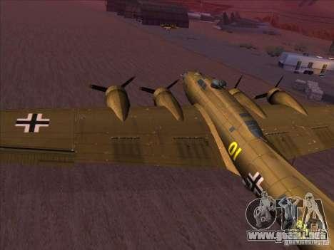 B-17G Flying Fortress para GTA San Andreas left