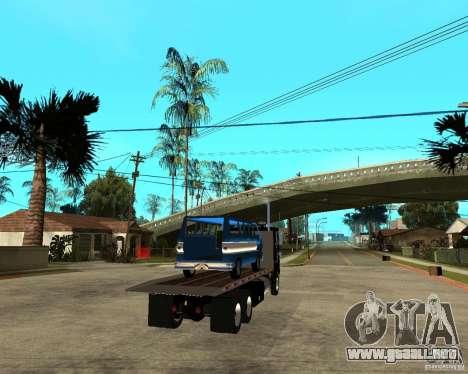 Peterbilt para GTA San Andreas vista posterior izquierda