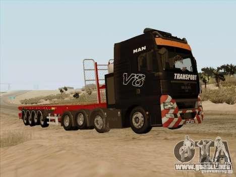 MAN TGX 8x4 para GTA San Andreas left