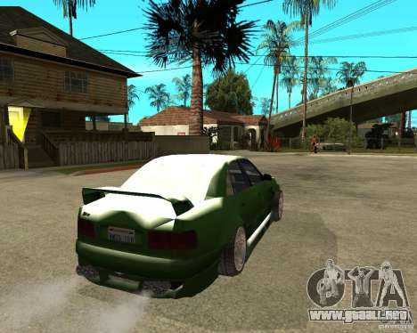 Audi S8 RS Look para GTA San Andreas vista posterior izquierda