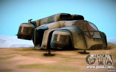 BTR-20 Yastreb para GTA San Andreas vista hacia atrás