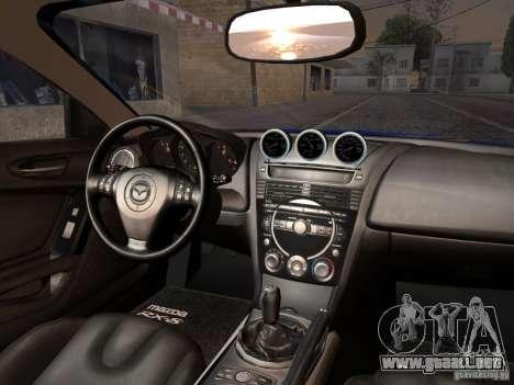 Mazda RX-8 Varis Custom para GTA San Andreas vista hacia atrás