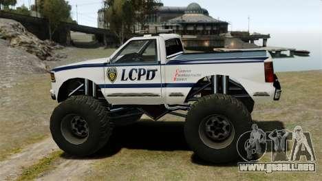 Policía Monster Truck ELS para GTA 4 left