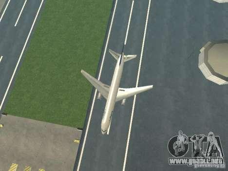 Boeing 767-300 Lufthansa para GTA San Andreas vista hacia atrás