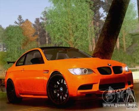 BMW M3 GT-S 2011 para visión interna GTA San Andreas