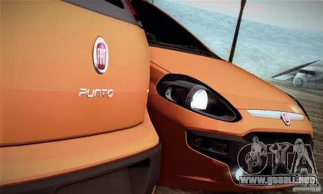 Fiat Punto Evo 2010 Edit para GTA San Andreas vista hacia atrás