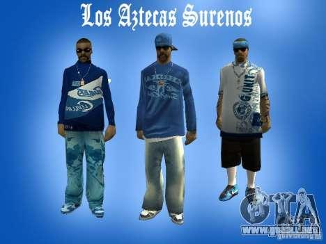 Los Actekas de la cuadrilla de pieles para GTA San Andreas