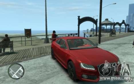 Audi S5 v2 para GTA 4 vista hacia atrás