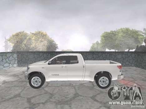 Toyota Tundra para GTA San Andreas vista hacia atrás