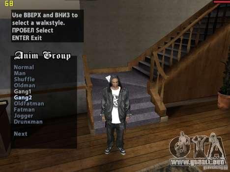 Walk style para GTA San Andreas segunda pantalla