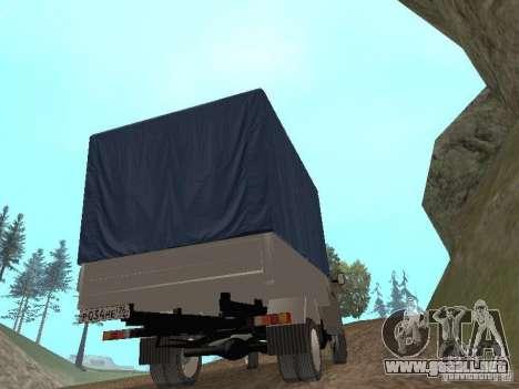 GAZ 3302 en 2001. para visión interna GTA San Andreas