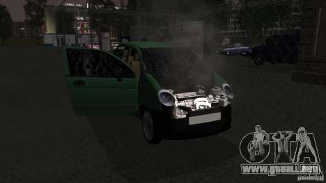 Daewoo Matiz para visión interna GTA San Andreas