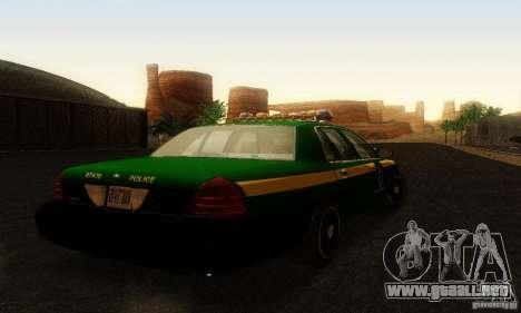 Ford Crown Victoria Vermont Police para GTA San Andreas left