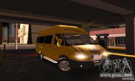 Minibús Gazelle 2705 para la visión correcta GTA San Andreas